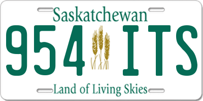 SK license plate 954ITS